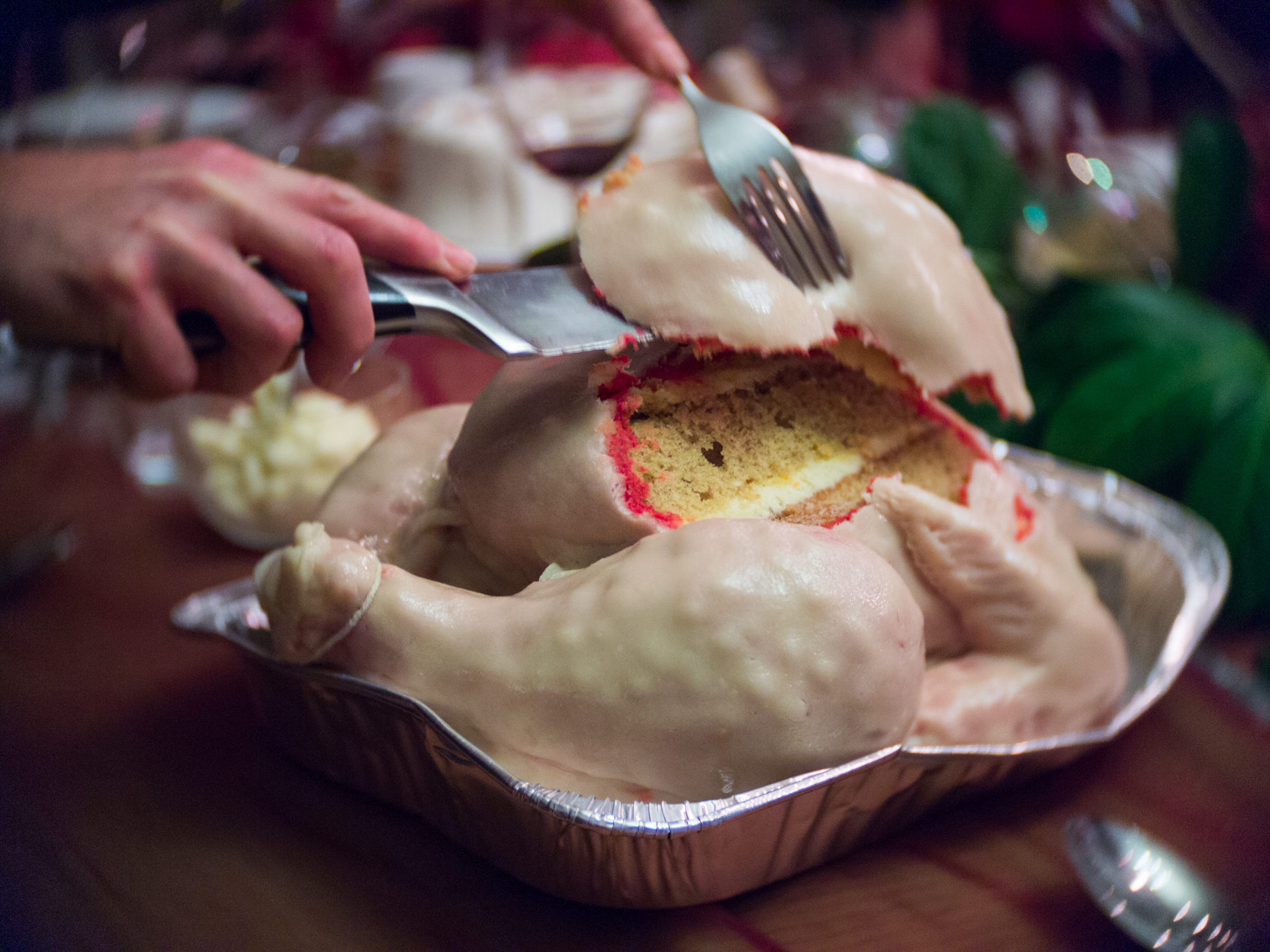 raw turkey cake